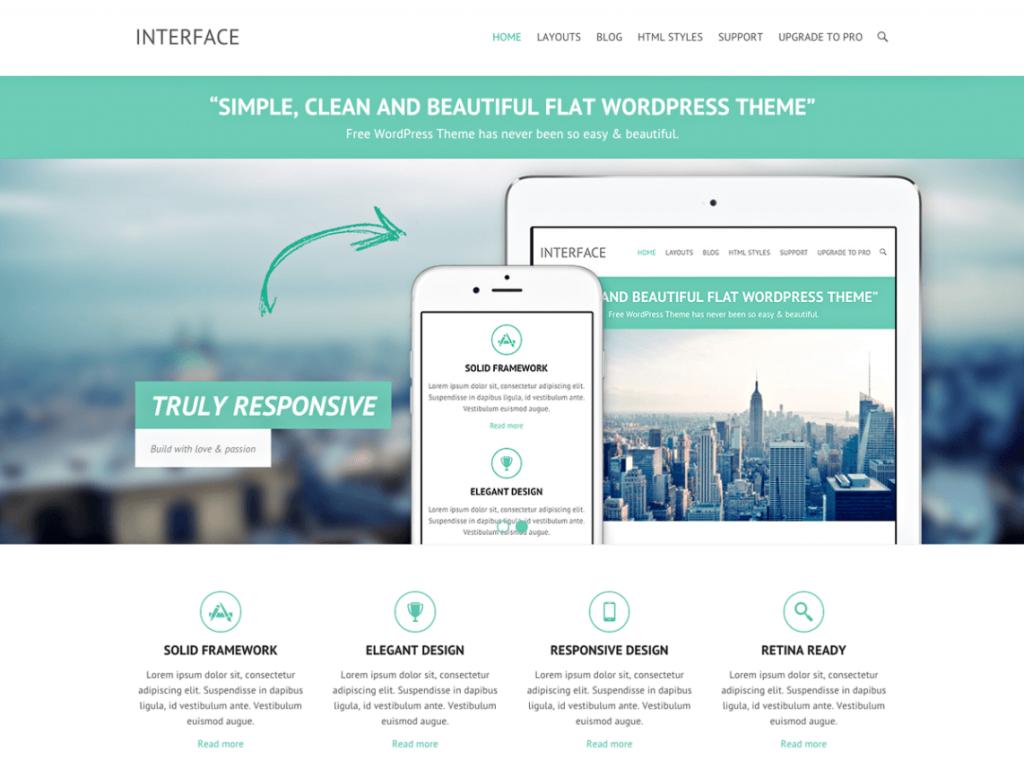 Interface Free Responsive WordPress Theme