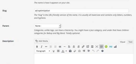 wordpress taxonomy description wysiwyg | Creative Tweets
